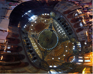 The dome of the great Hagia Sophia mosque