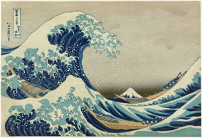 the Wave, by Hokusai